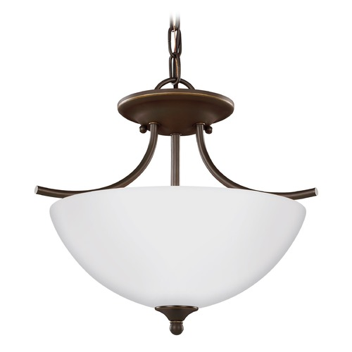 Sea Gull Lighting Sea Gull Lighting Bannock Heirloom Bronze Pendant Light with Bowl / Dome Shade 7716602-782