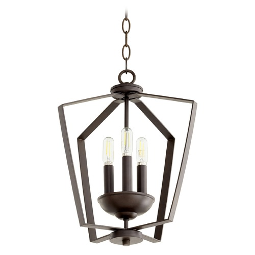 Quorum Lighting Quorum Lighting Oiled Bronze Pendant Light 894-3-86