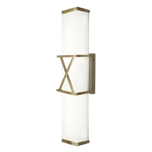 Kuzco Lighting Modern Vintage Brass LED Sconce with Frosted White Shade 3000K 1752LM WS7022-VB