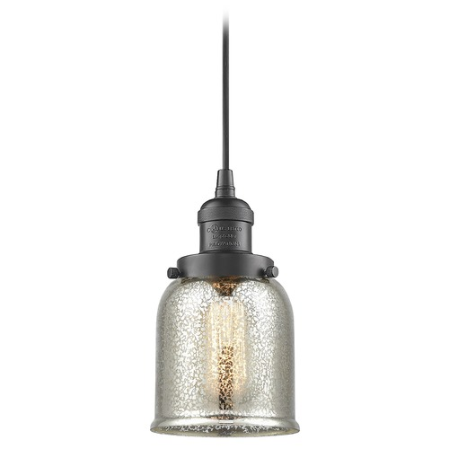 Innovations Lighting Innovations Lighting Small Bell Oil Rubbed Bronze Mini-Pendant Light with Bell Shade 201C-OB-G58