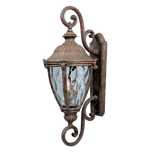 Maxim Lighting Outdoor Wall Light with Clear Glass in Earth Tone Finish 3189WGET