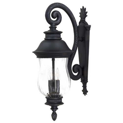 Minka Lavery Outdoor Wall Light with Clear Glass in Heritage Finish 8902-94