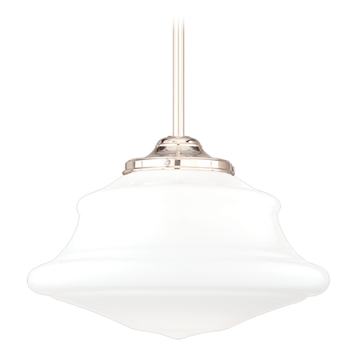 Hudson Valley Lighting Pendant Light with White Glass in Polished Nickel Finish 3412-PN