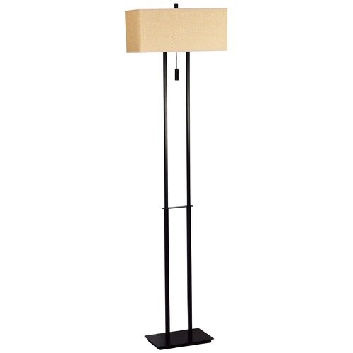 Kenroy Home Lighting Modern Floor Lamp with Beige / Cream Shades in Bronze Finish 30817BRZ