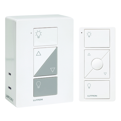 Lutron Dimmer Controls Lutron Caseta White Dimmer Switch P-PKG1P-WH