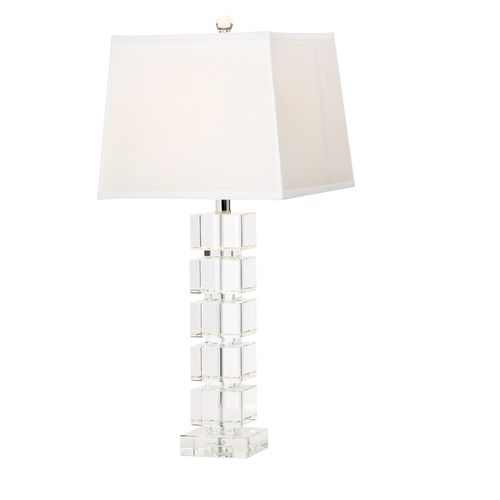 Design Classics Lighting Design Classics Symphony Crystal Chrome Table Lamp with Square Shade 2199