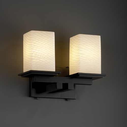 Justice Design Group Justice Design Group Fusion Collection Bathroom Light FSN-8672-15-WEVE-MBLK