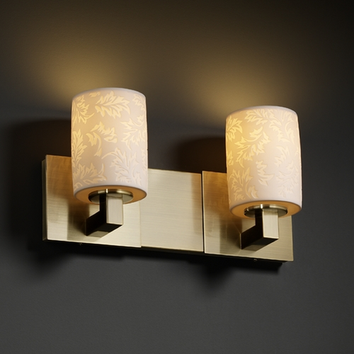 Justice Design Group Justice Design Group Limoges Collection Bathroom Light POR-8822-10-LEAF-ABRS