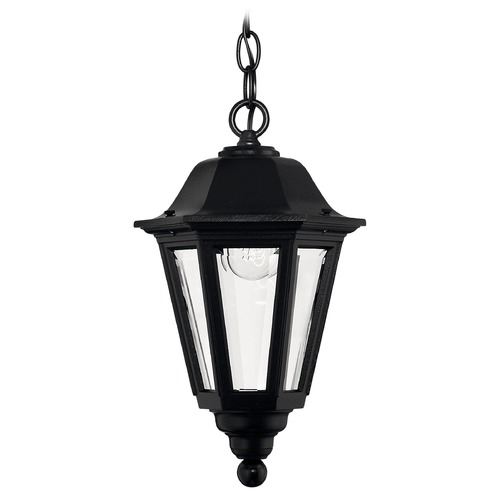 Hinkley Outdoor Hanging Light with Clear Glass in Black Finish 1412BK