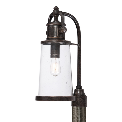 Quoizel Lighting Post Light with Clear Glass in Imperial Bronze Finish SDN9008IB