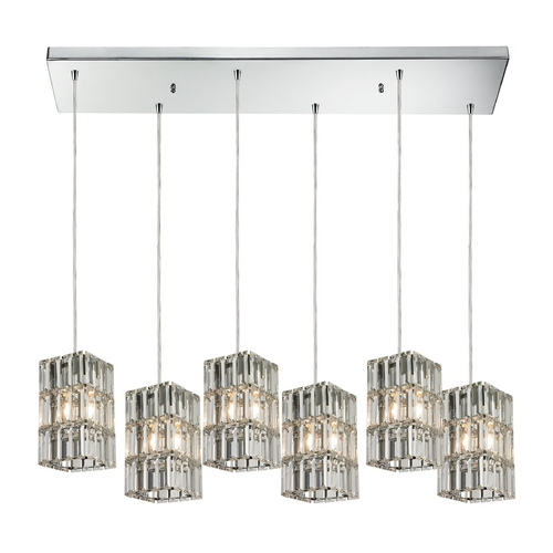 Elk Lighting Crystal Multi-Light Pendant Light 6-Lights 31488/6RC