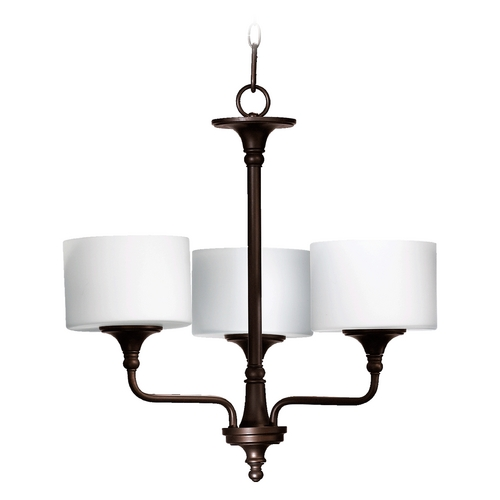 Quorum Lighting Quorum Lighting Rockwood Oiled Bronze Chandelier 6090-3-86