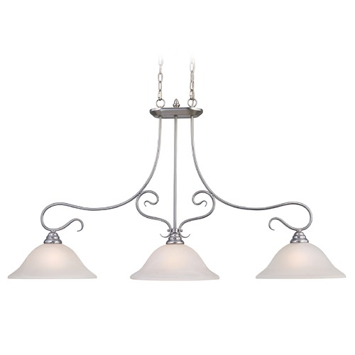 Livex Lighting Livex Lighting Coronado Brushed Nickel Island Light with Bell Shade 6108-91