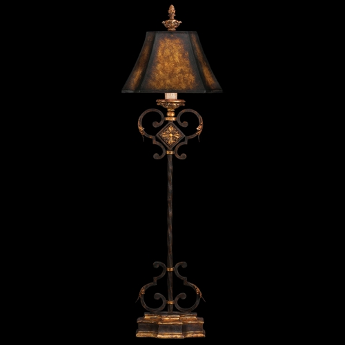 Fine Art Lamps Fine Art Lamps Castile Antiqued Iron with Gold Leaf Console & Buffet Lamp with Bell Shade 234915ST