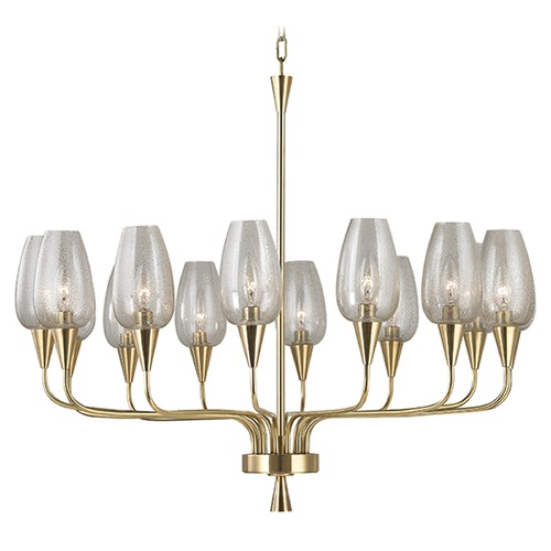 Hudson Valley Lighting Longmont 14 Light Chandelier - Aged Brass 4733-AGB