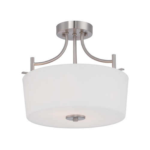 Designers Fountain Lighting Designers Fountain Cassina Satin Platinum Semi-Flushmount Light 86911-SP