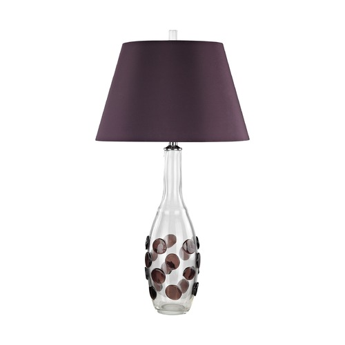 Dimond Lighting Dimond Confiserie Clear and Garnet Table Lamp with Empire Shade D3170