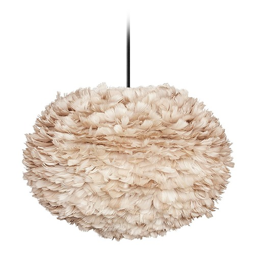 UMAGE UMAGE Black Pendant Light with Light Brown Feather Shade 3007_4010