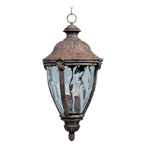 Maxim Lighting Outdoor Hanging Light with Clear Glass in Earth Tone Finish 3192WGET