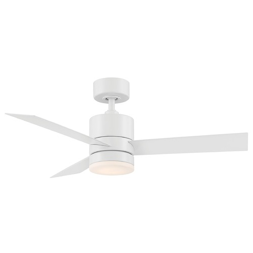 Modern Forms by WAC Lighting Modern Forms Axis Matte White LED Ceiling Fan with Light FR-W1803-44L-MW
