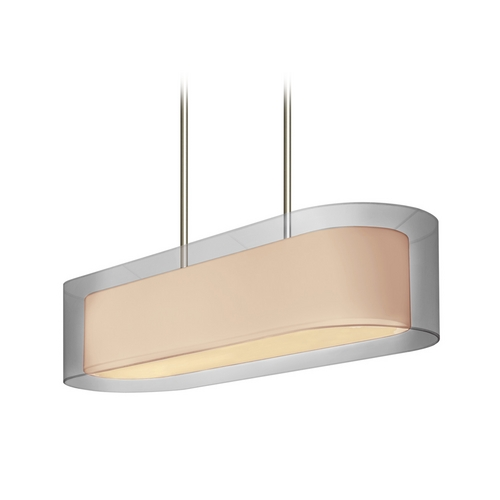 Sonneman Lighting Modern Island Light with Silver Shades in Satin Nickel Finish 6023.13