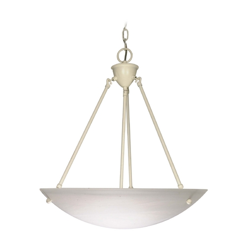 Nuvo Lighting Pendant Light with Alabaster Glass in Textured White Finish 60/373