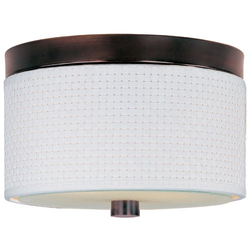 ET2 Lighting Modern Flushmount Light with White Shades in Oil Rubbed Bronze Finish E95000-100OI