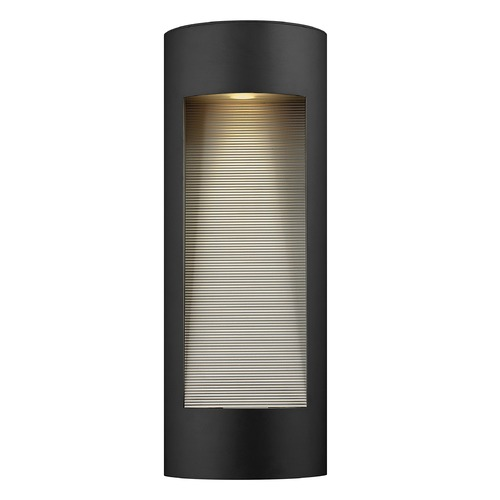 Hinkley Lighting Modern LED Outdoor Wall Light with Etched in Satin Black Finish 1664SK-LED