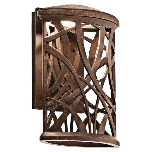 Kichler Lighting Kichler Lighting Maya Palm LED Outdoor Wall Light 49249AGZLED