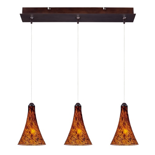 ET2 Lighting Minx Bronze Multi-Light Pendant with Bell Shade E94831-104BZ