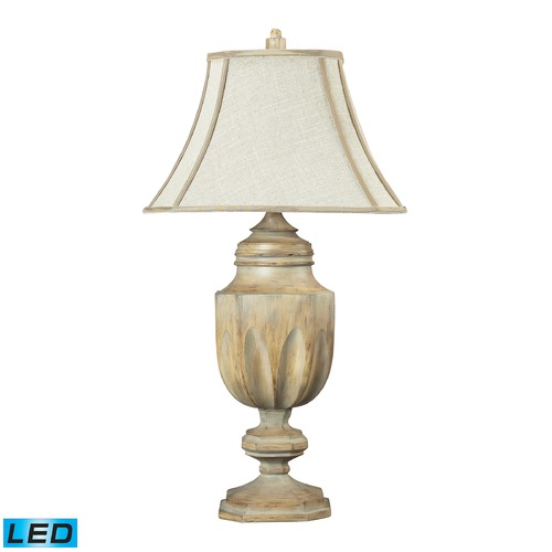 Dimond Lighting Dimond Lighting Bleached Wood LED Table Lamp with Bell Shade 93-9243-LED