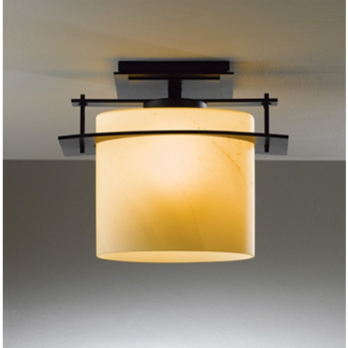 Hubbardton Forge Lighting Hubbardton Forge Lighting Ellipse Black Close To Ceiling Light 367525-10-H194