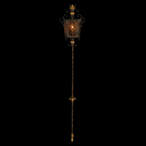 Fine Art Lamps Fine Art Lamps Castile Antiqued Iron with Gold Leaf Sconce 219350ST