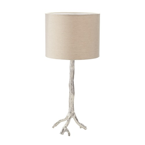 Dimond Lighting Dimond Lighting Nickel Table Lamp with Drum Shade 468-022