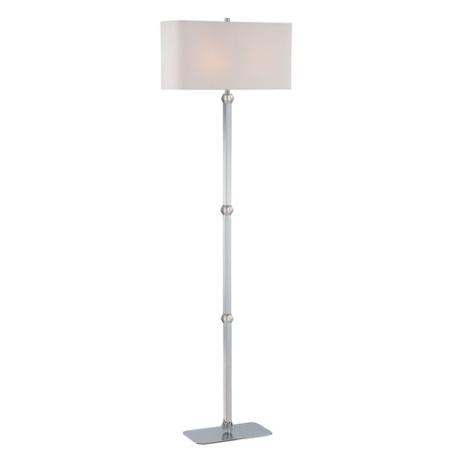 Lite Source Lighting Lite Source Lighting Cairo Chrome Floor Lamp with Rectangle Shade LS-82628