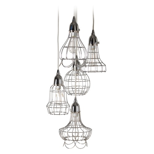 Dimond Lighting Silver Wire Five Pendant Lamp 225039