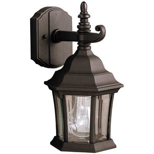 Kichler Lighting Kichler Outdoor Wall Light with Clear Glass in Black Finish 9788BK