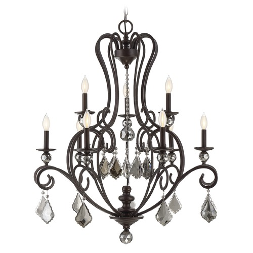 Savoy House Savoy House Lighting Stratton Statuary Bronze Chandelier 1-2081-9-48