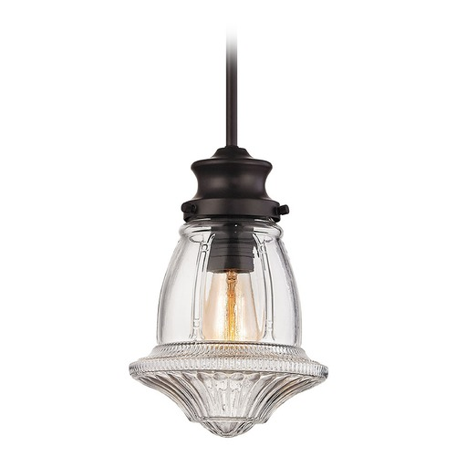 Elk Lighting Elk Lighting Schoolhouse Pendants Oil Rubbed Bronze Mini-Pendant Light 69139-1