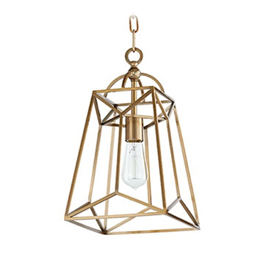 Quorum Lighting Quorum Lighting Clarkson Aged Brass Mini-Pendant Light 820-1-80