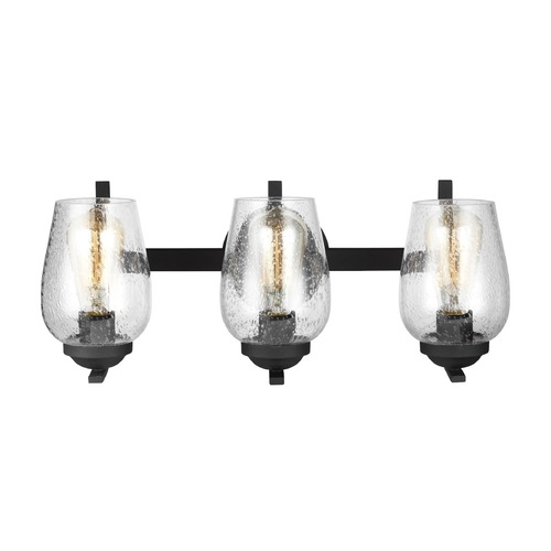 Sea Gull Lighting Seeded Glass Bathroom Light Black Sea Gull Lighting 4427803-839