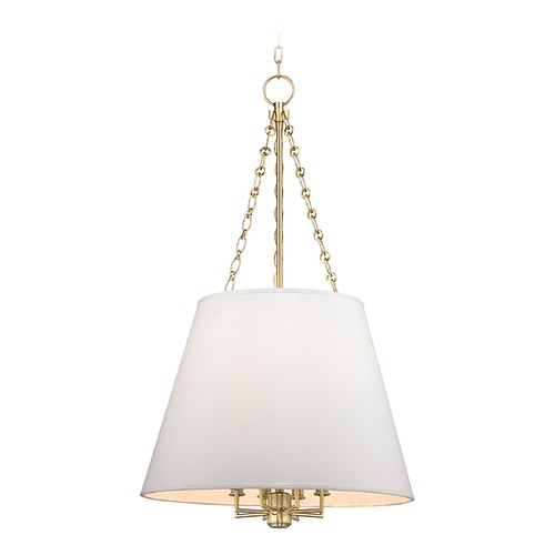 Hudson Valley Lighting Hudson Valley Lighting Burdett Aged Brass Pendant Light with Empire Shade 6422-AGB