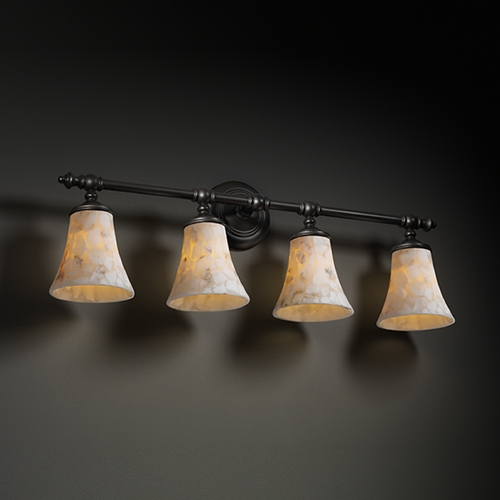 Justice Design Group Justice Design Group Alabaster Rocks! Collection Bathroom Light ALR-8524-20-MBLK