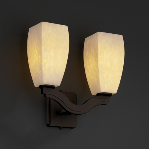 Justice Design Group Justice Design Group Fusion Collection Bathroom Light FSN-8975-65-DROP-DBRZ