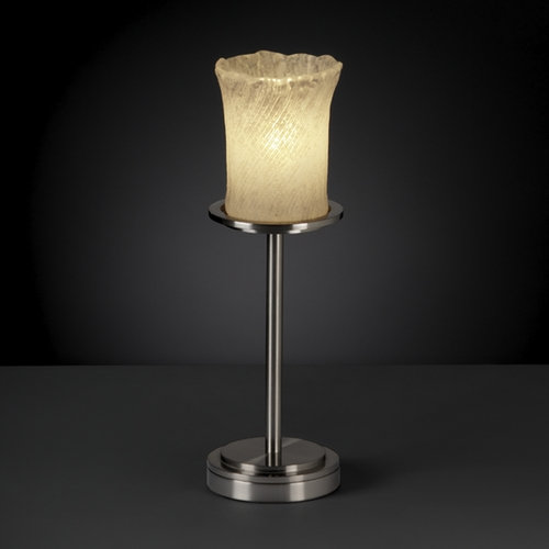 Justice Design Group Justice Design Group Veneto Luce Collection Table Lamp GLA-8799-16-WHTW-NCKL