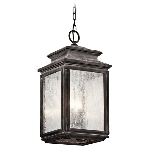 Kichler Lighting Kichler Lighting Wiscombe Park Weathered Zinc Outdoor Hanging Light 49505WZC