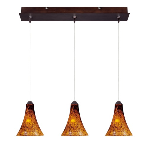 ET2 Lighting Minx Bronze Multi-Light Pendant with Bell Shade E94833-104BZ