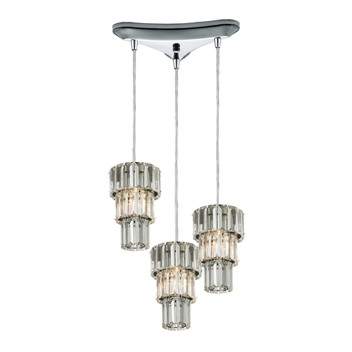 Elk Lighting Crystal Multi-Light Pendant Light 3-Lights 31489/3
