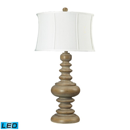 Dimond Lighting Dimond Lighting Bleached Wood LED Table Lamp with Drum Shade 93-9244-LED