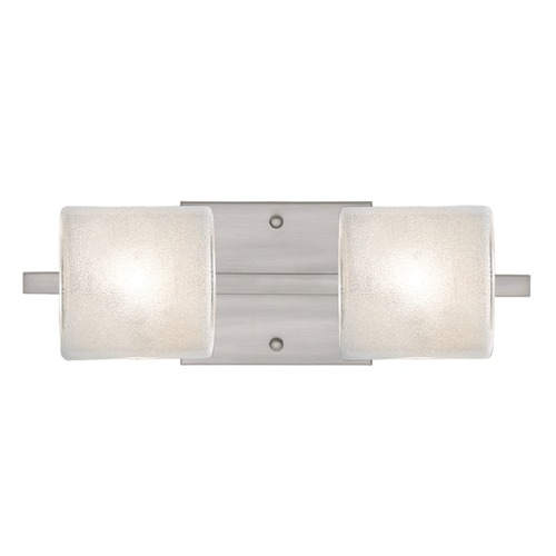 Besa Lighting Besa Lighting Paolo Satin Nickel Bathroom Light 2WS-7873GL-SN